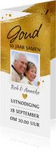 Mooie uitnodiging voor 50-jarig gouden jubileum