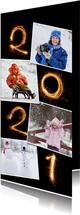 Nieuwjaar 2021 vuurwerk fotocollage