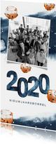 Nieuwjaar uitnodiging borrel waterverf oliebollen 2020