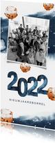 Nieuwjaar uitnodiging borrel waterverf oliebollen 2022