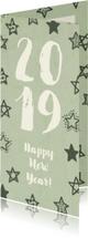 Nieuwjaarskaart '2019' met sterren