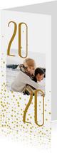 Nieuwjaarskaart '2020' met foto en stippen
