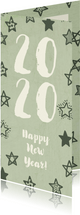 Nieuwjaarskaart '2020' met sterren