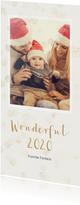 Nieuwjaarskaart met enkele foto langwerpig - BK