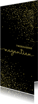 Nieuwjaarskaart 'tweeduizendnegentien' met glittereffect