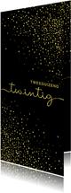 Nieuwjaarskaart 'tweeduizendtwintig' met glittereffect