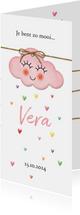 Op een roze wolk met hartjes regen geboorte dubbel