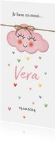 Op een roze wolk met regen van hartjes geboorte