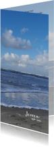 Rouwkaart Noordzeestrand