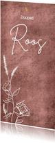 Schattige uitnodiging doopsel met wilde bloemen goud hartje