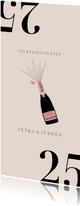 Silberhochzeit Einladungskarte Champagner