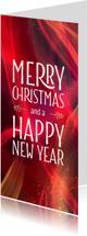Stijlvolle zakelijke kerstkaart Sparkling red