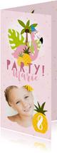 Tropische Einladung zum Kindergeburtstag Foto