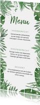 Trouwkaart menukaart botanisch takjes