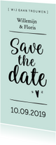 Trouwkaart save the date modern