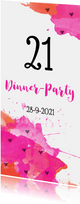 Uitnodiging 21 dinner aquarel