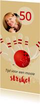 Uitnodiging 50 bowlingfeest