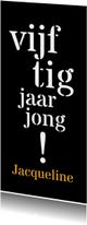 Uitnodiging 50 typografisch lang