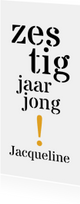 Uitnodiging 60 typografisch lang