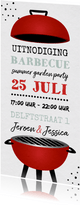 Uitnodiging bbq barbecue grill feestje tuinfeest