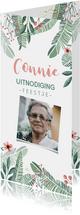Uitnodigingen - Uitnodiging botanical bloemen en takjes