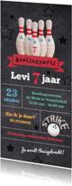 Kinderfeestjes - Uitnodiging bowlingparty feestje