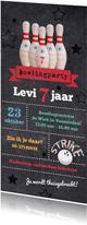Uitnodiging bowlingparty feestje