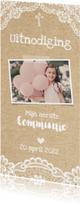 Uitnodiging Communie Kant & Karton