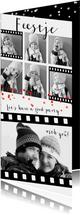 Uitnodigingen - Uitnodiging feest verjaardag fotocollage film