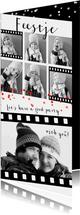 Uitnodiging feest verjaardag fotocollage film