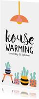 Uitnodiging housewarming cactus