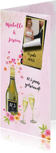 Uitnodiging huwelijksjubileum champagne