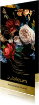 Uitnodiging jubileum bloemen oude meesters klassiek modern