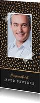 Uitnodiging pensioen goudlook patroon confetti foto