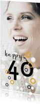 Uitnodiging voor 40e verjaardag met stippen
