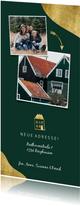 Umzugskarte mit goldenem Haus und Fotos