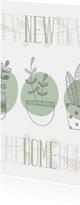 Umzugskarte Pflanzen in Pastell