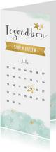 Vaderdag uitje tegoedbon kaart met kalender en sterren