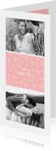Valentijnskaart I love you met foto's en hartjes