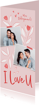 Valentinskarte Fotos & Blumen