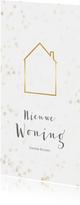 Verhuiskaart kerst langwerpig met huisje - BK