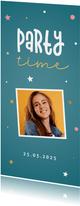 Verjaardagsuitnodiging confetti en sterren