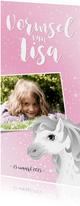 Vormsel communie wit schimmelpaard roze