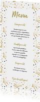 Vuurwerk goud kerst menukaart langwerpig