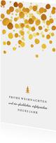 Weihnachtskarte Firma schlicht & stilvoll Goldkonfetti