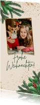 Weihnachtskarte Foto, Zweige & Sprenkel