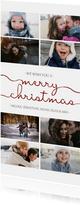 Weihnachtskarte Fotocollage Hochformat grafisch