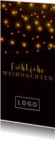Weihnachtskarte geschäftlich mit Lichterketten