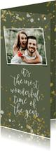 Weihnachtskarte grün Handlettering & Foto