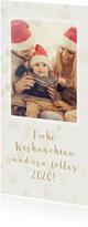 Weihnachtskarte mit Foto und transparenten Konfetti